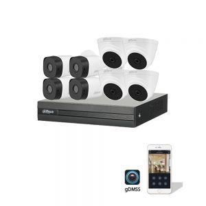 داهوا نظام كاميرات 5 ميجا عدد 8 + جهاز تشغيل 8 قنوات